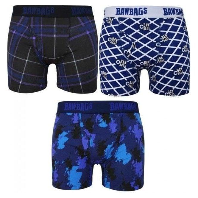 Bawbags 3 Pack Scottish Boxer Shorts