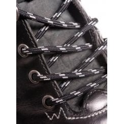 Round Black and Grey Bootlaces - 4mm wide 120cm