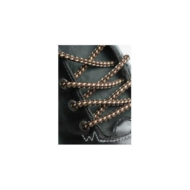 BIG LACES Round Brown and Sand Dots Bootlaces - 4mm wide 120cm