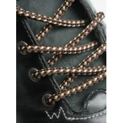 Round Brown and Sand Dots Bootlaces - 4mm wide 120cm