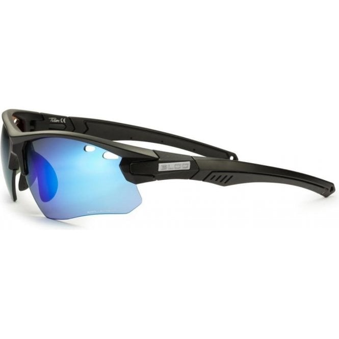 BLOC Titan Black - Blue Mirror Lens