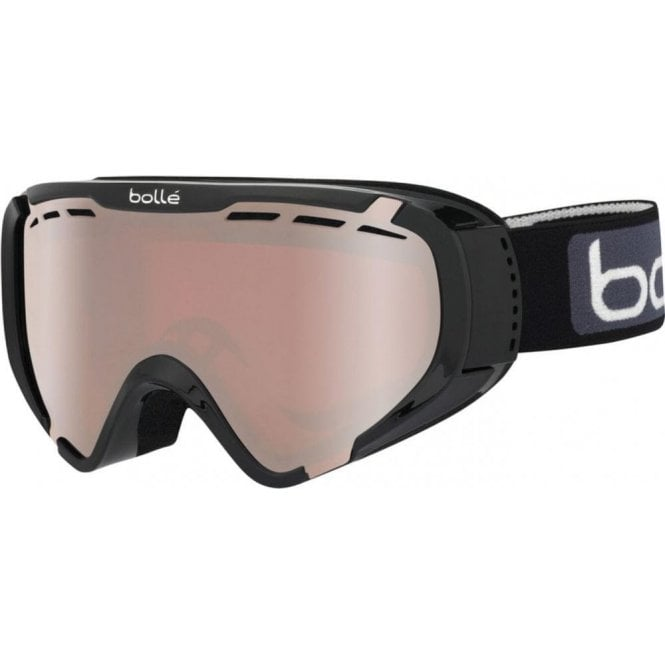 Bolle EXPLORER OTG Black Shiny Ski Goggles - Vermillon Gun Cat 2 Lens