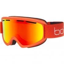 FREEZE PLUS Brick Red Matte Ski Goggles - Sunrise Cat 2 Lens