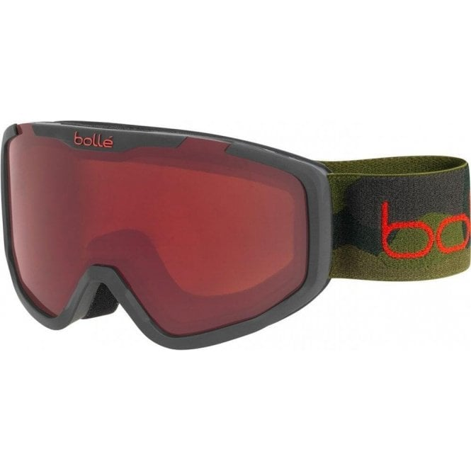 Bolle Kid's ROCKET Black Camo Matte Ski Goggles - Rosy Bronze Cat.3 Lens