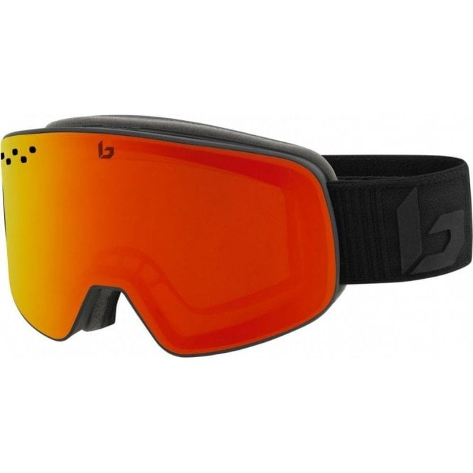 Bolle Nevada Matte Black Corp Ski Goggles - Sunrise Cat 2 Lens