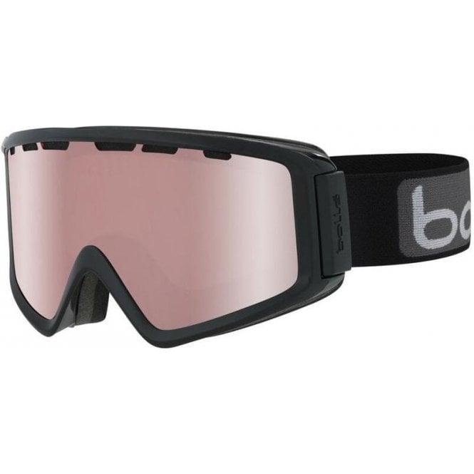 Bolle Z5 OTG Black Shiny Ski Goggles - Vermillon Gun Cat 2 Lens