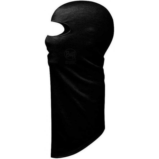 Buff Black Merino Wool Balaclava