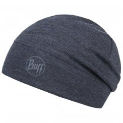 Mid Weight Merino Hat - Night Blue Melange