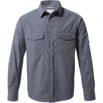 Men's Kiwi Long Sleeved Shirt - Faded Indigo