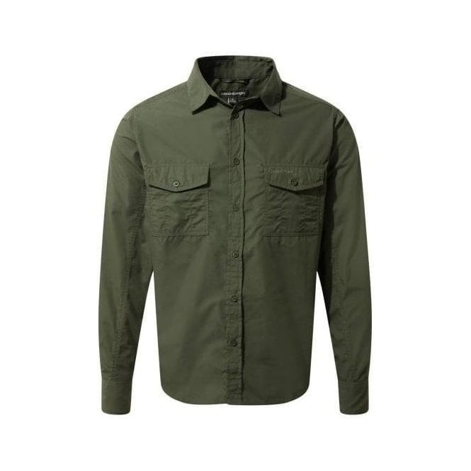 Craghoppers Men's Kiwi Long Sleeved Shirt - Faded Indigo