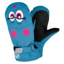 Brainwave Animal Ski Mitts - Atlantic Blue Face