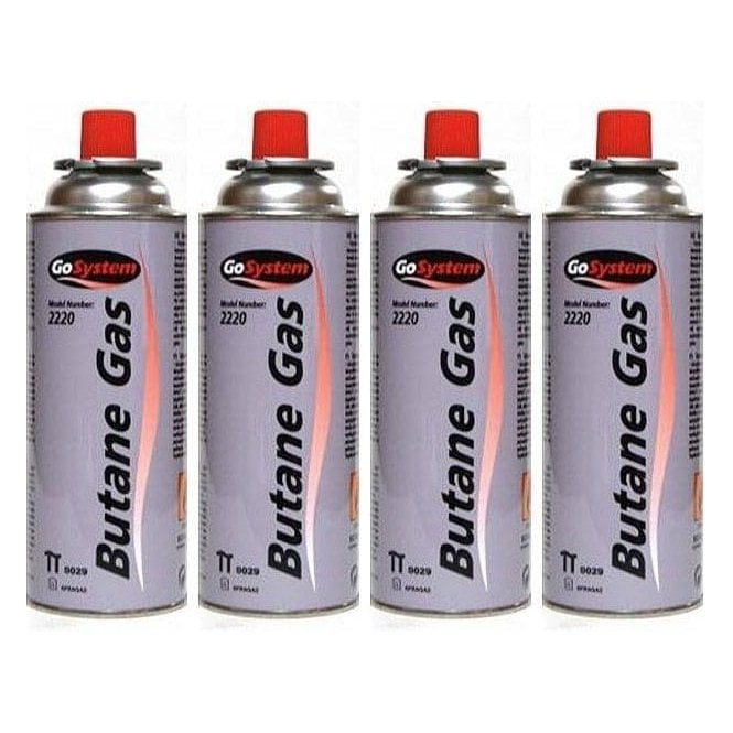 Go System Butane Camping Gas Cartridge 220g - Pack Of 4