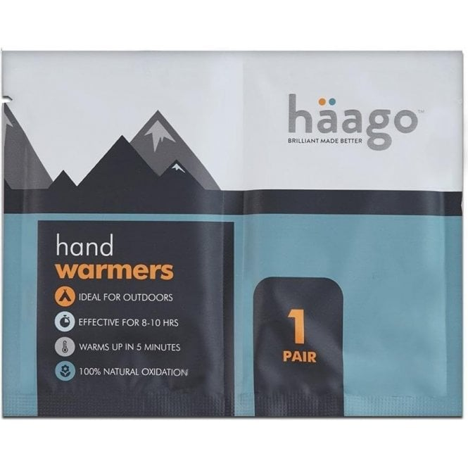 HAAGO Disposable Recyclable Hand Warmers, One Pair