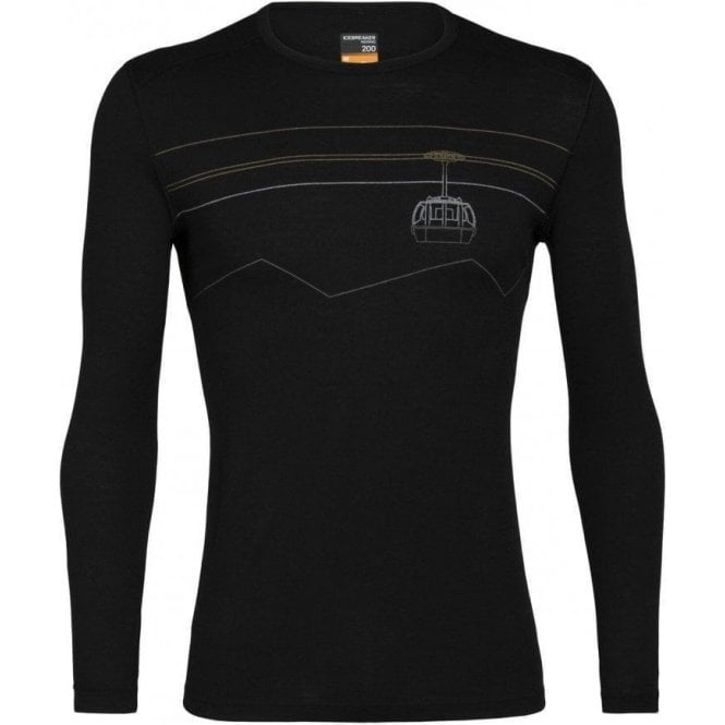 Icebreaker Men's Oasis 200 Long Sleeve Crewe - Peak to Peak Lift