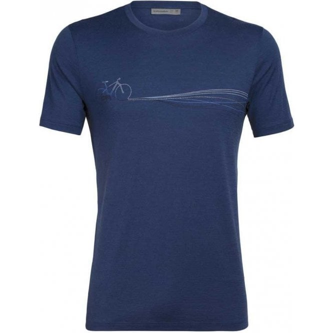 Icebreaker Men's Tech Lite SS Crewe Cadence Paths
