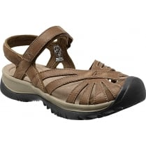 Women's Rose Leather Sandal - Dark Earth/Brindle