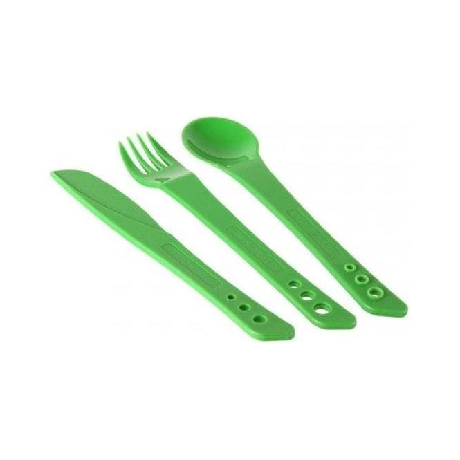 Lifeventure Ellipse Camping Cutlery GREEN