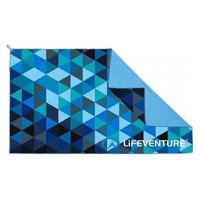 Lifeventure SoftFibre Triangle Print Travel Towel - Giant