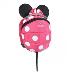 Disney Pink Minnie Mouse Toddler Backpack with Rein