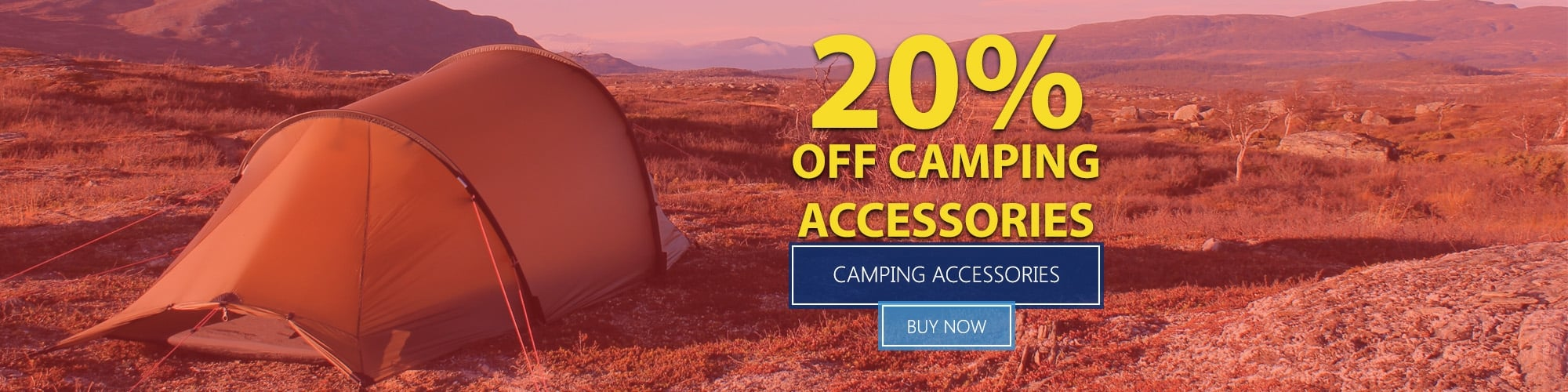 Summer Sale 2016 - 20% Off All Camping Accessories