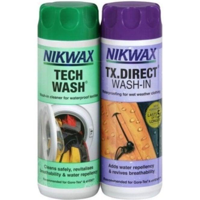 NikWax Twin Tech Wash and TX.Direct Wash 2 x 300ml