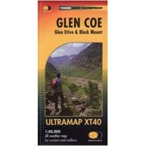 Glen Coe - Glen Etive & Black Mount Harvey Ultramap XT40