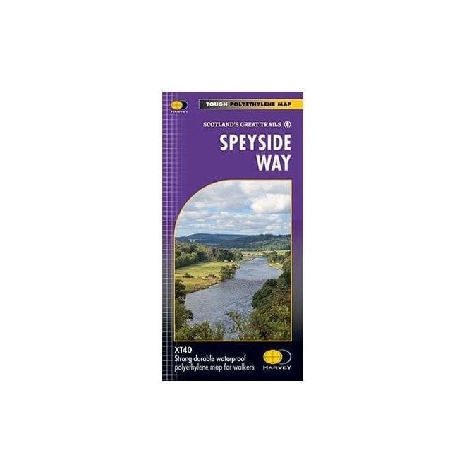 Ordnance Survey Harvey National Trail Map - Speyside Way