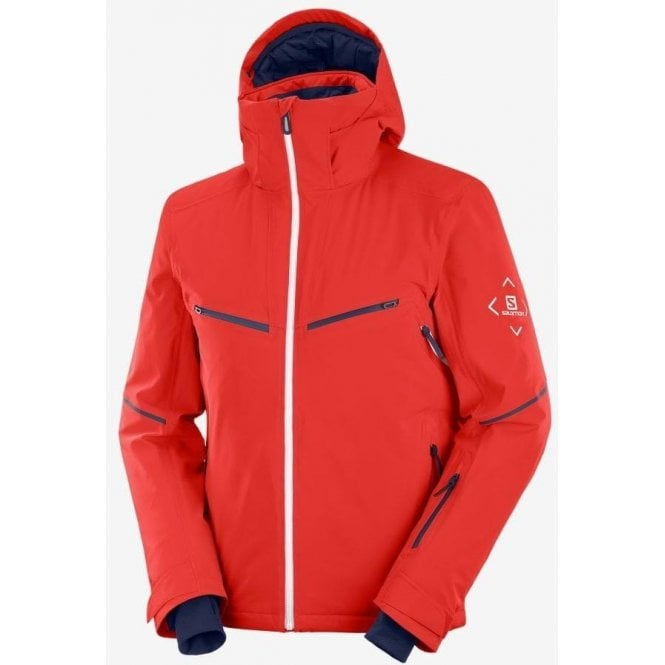 Salomon Clothing Men's Brilliant Jacket - Gogji Berry/White/Night Sky