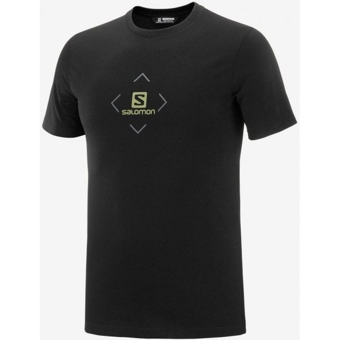 Salomon Clothing Men's Coton Logo Tee - Black