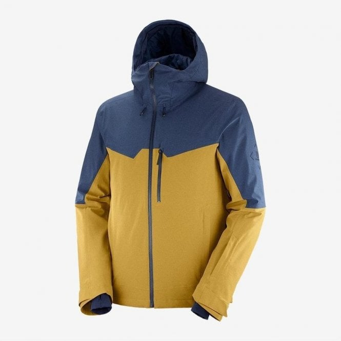 Salomon Clothing Men's Untracked Jacket - Cumin/Dark Denim