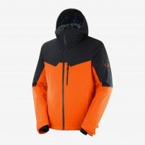 Men's Untracked Jacket - Red Orange/Black Heather