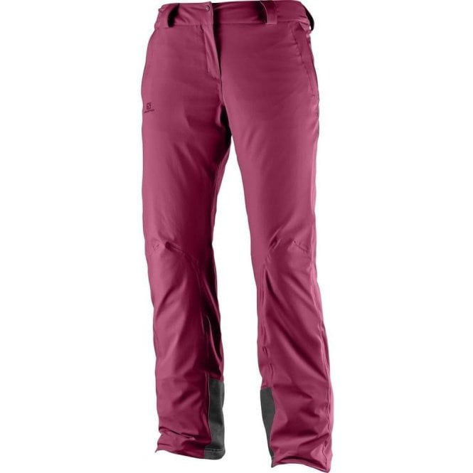 Salomon Clothing Women's Icemania Pant Beet Red - Regular Leg