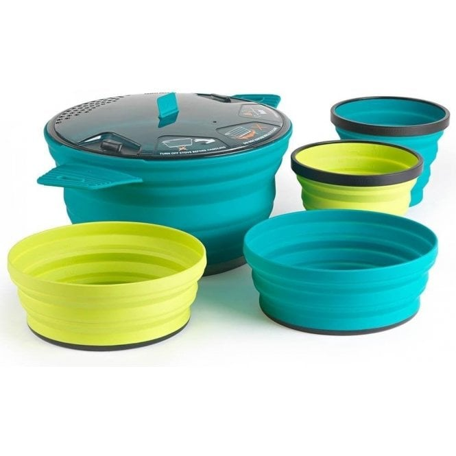 SEA TO SUMMIT X-Set 31 Collapsible 2 Person 5 Piece Cook and Dine Set