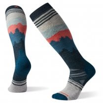 PhD Ski Medium Alpenglow Pattern Socks