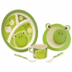 Bamboo Tableware Kids Set Frog