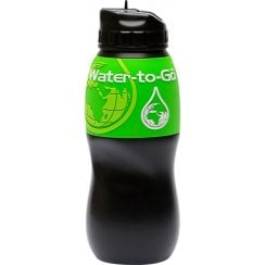 75cl Water Filtration Bottle Black/Green