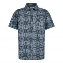 Dawlish Short Sleeve Printed Shirt - Indigo