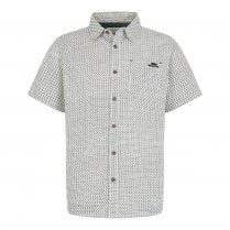 Hayle Short Sleeve Patterned Shirt - Marshmallow