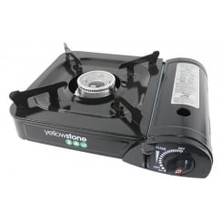 Portable Gas Stove for Camping - Black